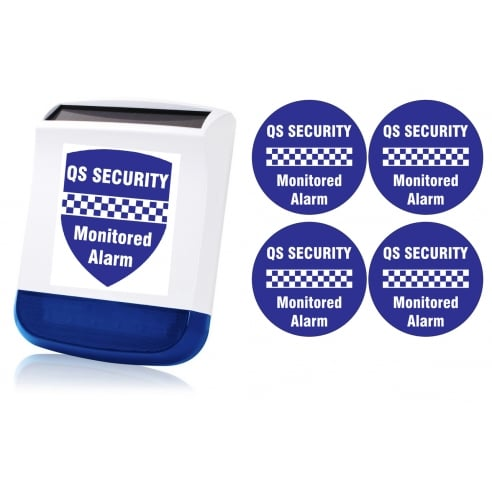 Quicksafe Security - Alarm System Visual Deterrent Pack