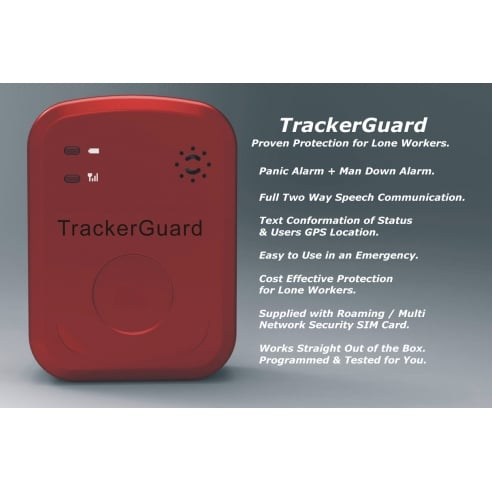 TrackerGuard - Lone Worker Alarm with Man Down Detection - 28 Day Trial