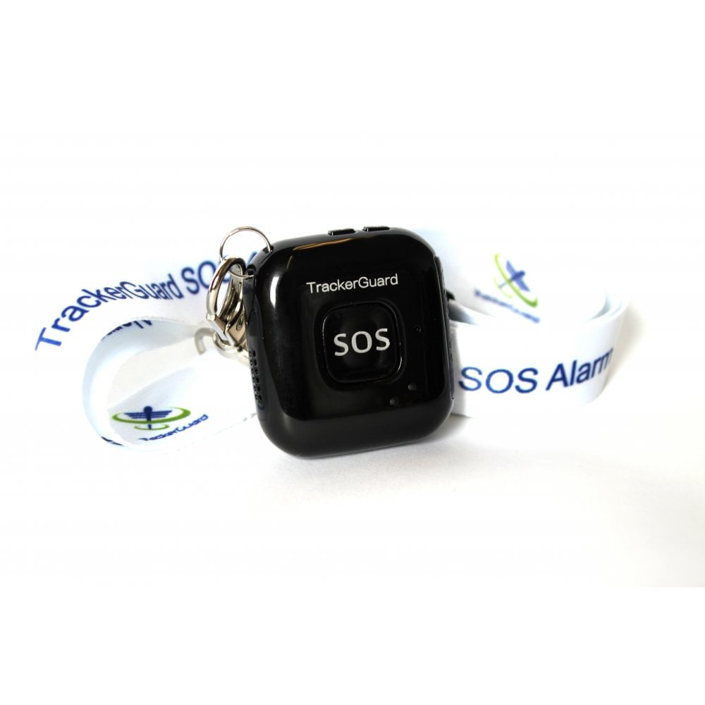 Panic alarm for the elderly with pull safe neck lanyard