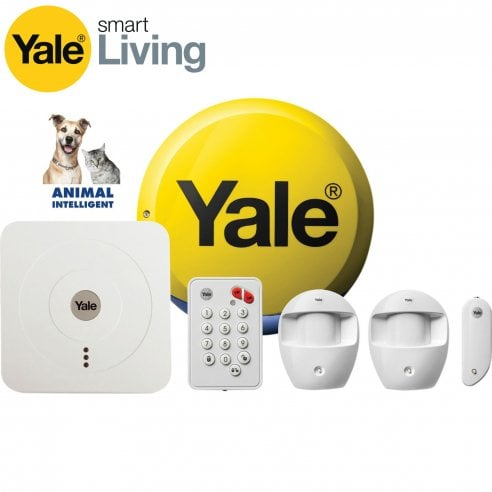 Yale Alarms - Pet Friendly Yale Smart Home Alarm Kit SR 320 with Fitted Zico LED's.